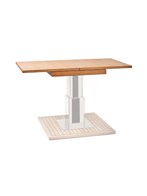 Fold & Slide Teak Table